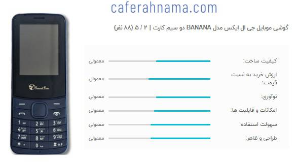 نظرات کاربران و مشتریان راضی و ناراضی درباره جی ال ایکس BANANA