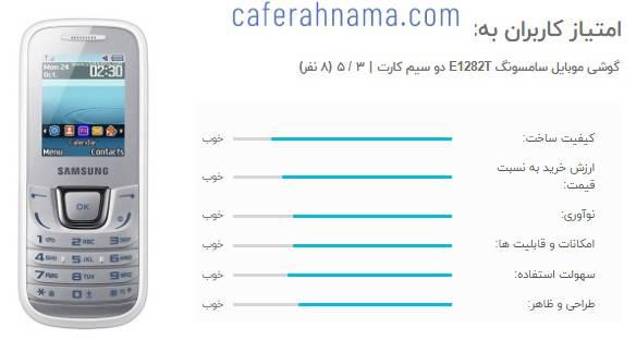 امتیاز و نظرات خریداران درباره بهترین گوشی دو سیم کارته ساده