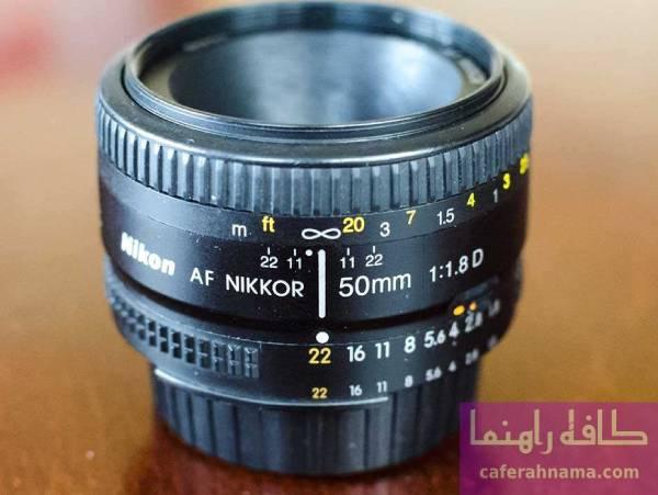 لنز دوربین عکاسی نیکون مدل 50mm F/1.8 AF D