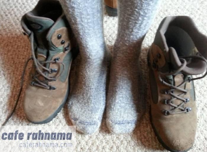 کفش کوهنوردی تنظیم با جوراب