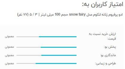 امتیاز کاربران نظرات ادو پرفیوم زنانه لنکوم مدل snow fairy