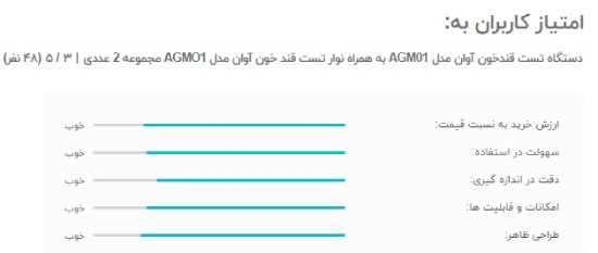 امتیاز و نظرات کاربران به دستگاه تست قندخون آوان مدل AGM01