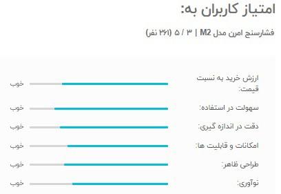 امتیاز کاربران به فشار سنج omron m2