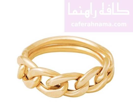 انگشتر طلا 18 عیار زنانه الماسین آذر