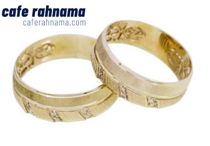 انگشتر ازدواج ست حلقه طلا 18 عیار