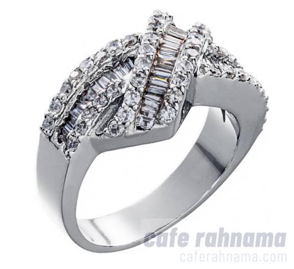 انگشتر طلا 18 عیار زنانه جواهری سون